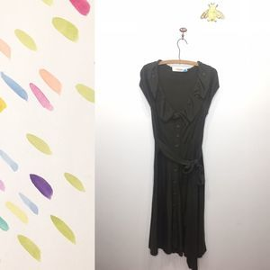 Anthro Sparrow button down sweater dress S 0147